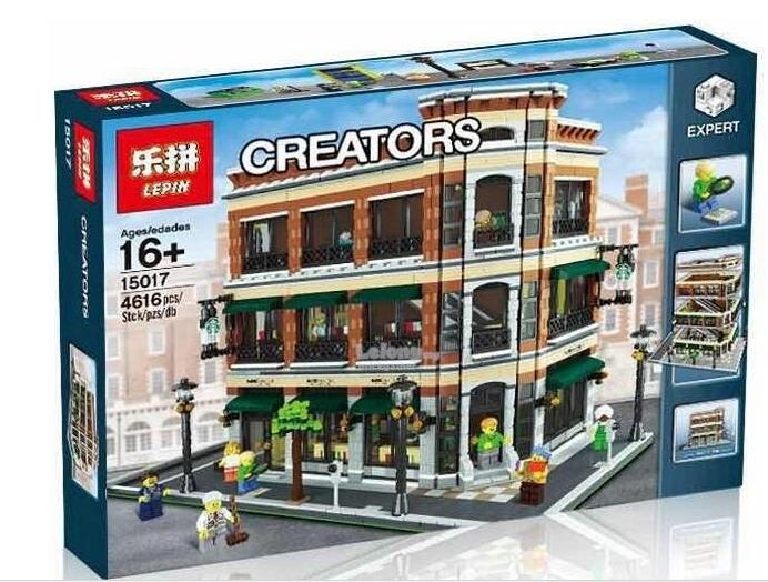 เลโก้จีน LEPIN 15017 Creator ชุด Barnes & Noble / Starbucks