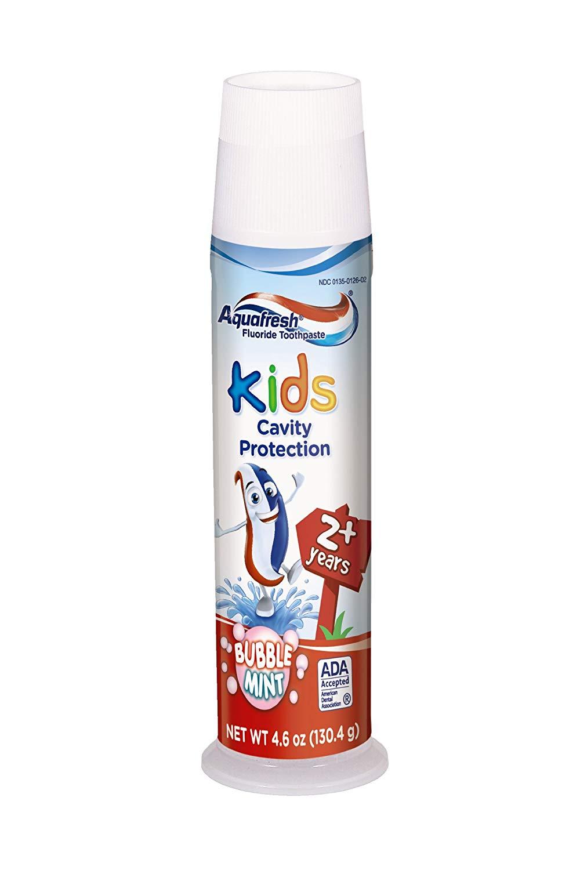 ยาสีฟันเด็กโตAquafresh Triple Protection Toothpaste for Kids, Bubblemint 4.6 oz (130.4 g)++ พร้อมส่ง++