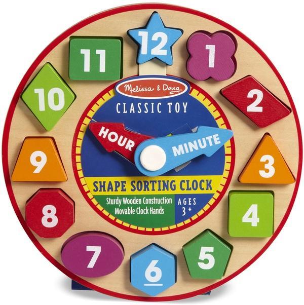 นาฬิกาไม้จำลอง Melissa and doug Shape Sorting Clocks