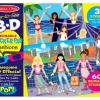 สติกเกอร์ลอกได้ Melissa and Doug Reusable 3D Reusable Stickers Pad Fashion