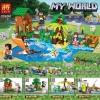 เลโก้ชุดเล็ก LELE 33090 ชุด Minecraft 4 กล่อง