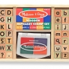 Melissa & Doug Wooden Alphabet Stamp Set ตัวปั๊ม A-Z