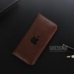 (สีน้ำตาลเข้ม) เคสหนัง Apple (เคส iPhone 7 Plus)