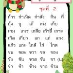 บัญชีคำอ่านภาษาไทย ป.1 ควรอ่านได้