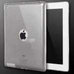 เคสซิลิโคนใส เว้าโชว์โลโก้ Apple (เคส iPad 2/3/4)